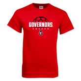 Red T Shirt-Soccer Design