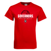 Red T Shirt-Volleyball Design