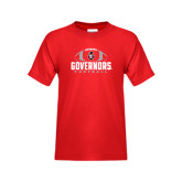 Youth Red T Shirt-Football Design