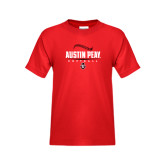 Youth Red T Shirt-Softball Design