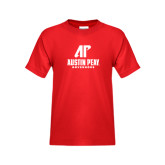 Youth Red T Shirt-AP Austin Peay Governors - Official Athletic Logo