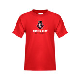 Youth Red T Shirt-Governor Austin Peay Governors