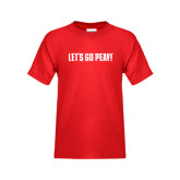 Youth Red T Shirt-Lets Go Peay