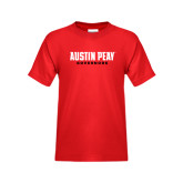 Youth Red T Shirt-Austin Peay Governors Flat