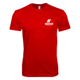 Next Level SoftStyle Red T Shirt-AP Austin Peay Governors - Official Athletic Logo