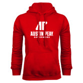 Red Fleece Hood-AP Austin Peay Governors - Official Athletic Logo
