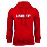 Red Fleece Hood-Cross Country