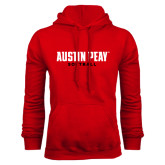 Red Fleece Hood-Softball