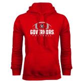 Red Fleece Hood-Football Design