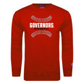 Red Fleece Crew-Baseball Design