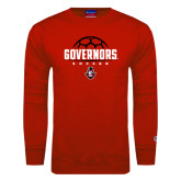 Red Fleece Crew-Soccer Design