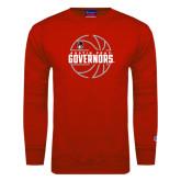 Red Fleece Crew-Basketball Design