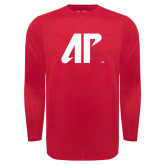 Under Armour Red Long Sleeve Tech Tee-AP