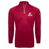 Under Armour Red Tech 1/4 Zip Performance Shirt-AP Austin Peay Governors - Official Athletic Logo