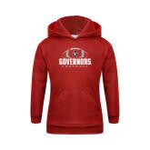 Youth Red Fleece Hood-Football Design