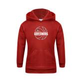 Youth Red Fleece Hood-Basketball Design