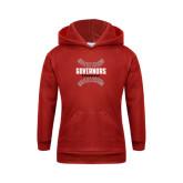 Youth Red Fleece Hood-Baseball Design