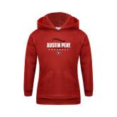 Youth Red Fleece Hood-Softball Design