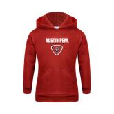 Youth Red Fleece Hood-Soccer Design