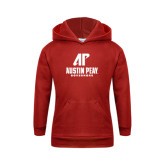 Youth Red Fleece Hood-AP Austin Peay Governors - Official Athletic Logo