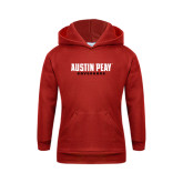 Youth Red Fleece Hood-Austin Peay Governors Flat