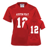 Ladies Red Replica Football Jersey-#12
