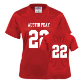 Ladies Red Replica Football Jersey-#22