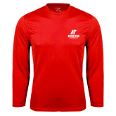 Syntrel Performance Red Longsleeve Shirt-AP Austin Peay Governors - Official Athletic Logo