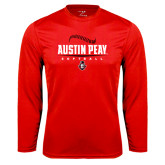 Syntrel Performance Red Longsleeve Shirt-Softball Design