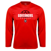 Syntrel Performance Red Longsleeve Shirt-Soccer Design