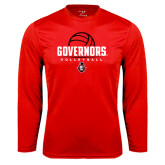 Syntrel Performance Red Longsleeve Shirt-Volleyball Design