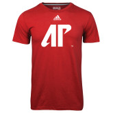 Adidas Climalite Red Ultimate Performance Tee-AP