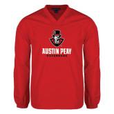 V Neck Red Raglan Windshirt-Governor Austin Peay Governors