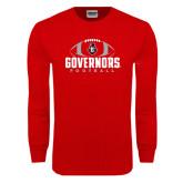 Red Long Sleeve T Shirt-Football Design