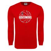 Red Long Sleeve T Shirt-Basketball Design