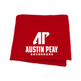 Red Sweatshirt Blanket-AP Austin Peay Governors - Official Athletic Logo