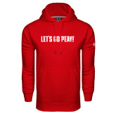 Under Armour Red Performance Sweats Team Hood-Lets Go Peay