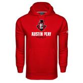 Under Armour Red Performance Sweats Team Hood-Alumni