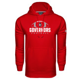 Under Armour Red Performance Sweats Team Hood-Football Design