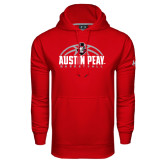 Under Armour Red Performance Sweats Team Hood-Basketball Design