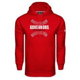Under Armour Red Performance Sweats Team Hood-Baseball Design