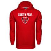 Under Armour Red Performance Sweats Team Hood-Soccer Design