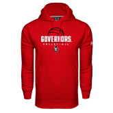 Under Armour Red Performance Sweats Team Hood-Volleyball Design