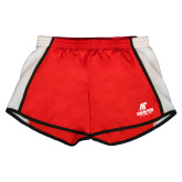 Ladies Red/White Team Short-AP Austin Peay Governors - Official Athletic Logo