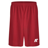 Midcourt Performance Red 9 Inch Game Short-AP