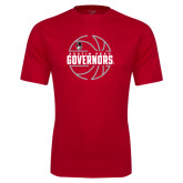 Syntrel Performance Red Tee-Basketball Design