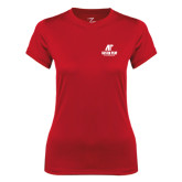 Ladies Syntrel Performance Red Tee-AP Austin Peay Governors - Official Athletic Logo