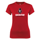 Ladies Syntrel Performance Red Tee-Governor Austin Peay Governors