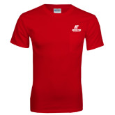 Red T Shirt w/Pocket-AP Austin Peay Governors - Official Athletic Logo
