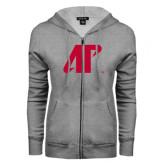 ENZA Ladies Grey Fleece Full Zip Hoodie-AP